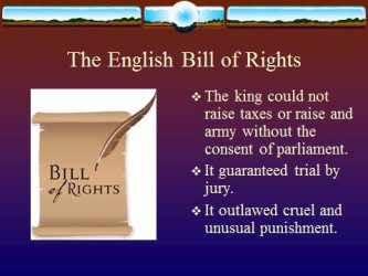 English Bill of rights1 2