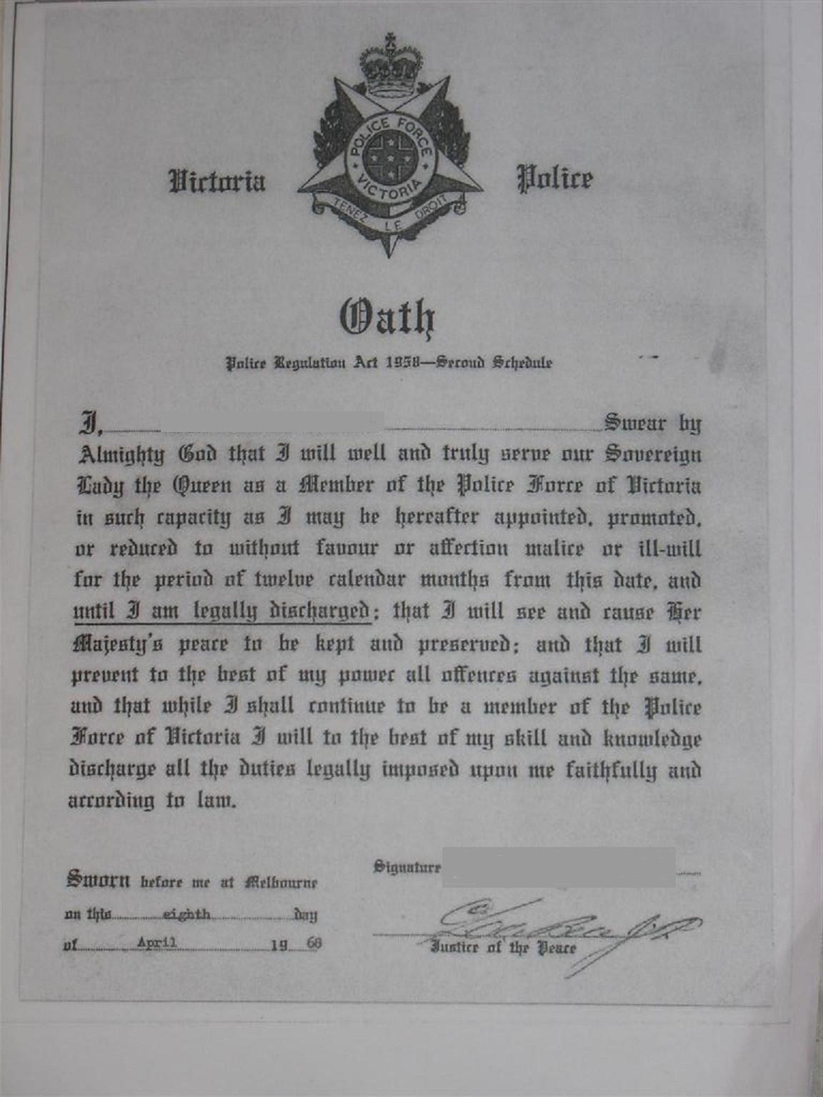 Police Oath Victoria Australia v1@0 2