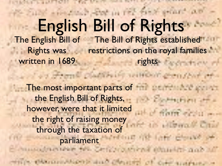 English bill of rights 1689 essay writing