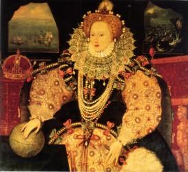 Elizabeth I without adorning Roman regalia