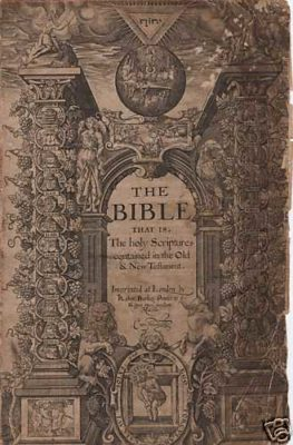 The Geneva Bible, the Jewish Puritan Pilgrims and vaccination genocide