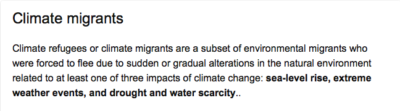 Upping migration through weather modification, welcome to the environmental migrant