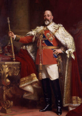 King Edward VII and his court