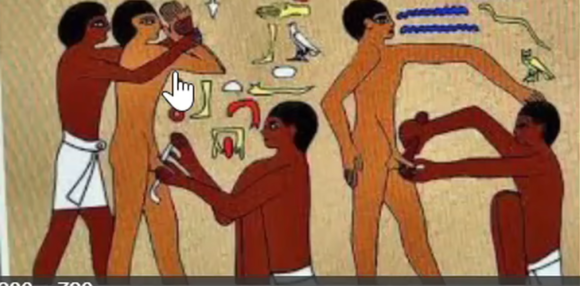 Pharaoh and his legions and the marked slaves