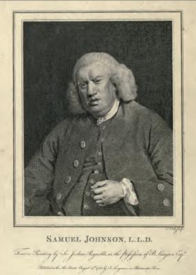 Dictionary of the English language, Samuel Johnson