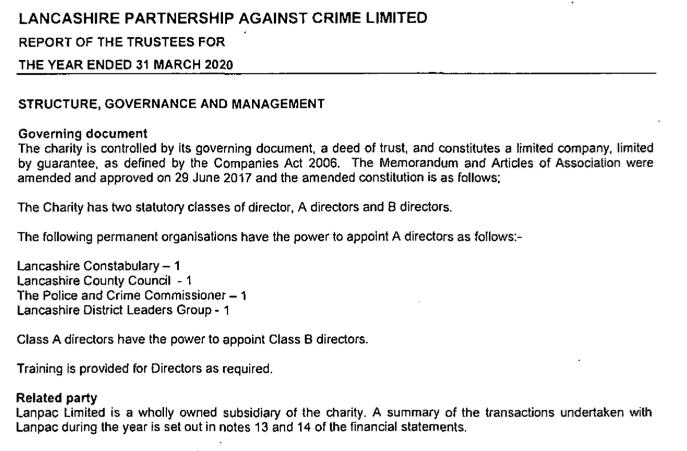 Lancashire Partnership Against Crime, an Arm of the PCC