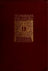Technology's War Record an Interpretation of the Contribution Made By MIT